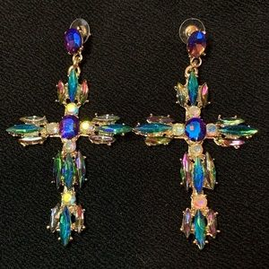 Gorgeous Multicolored Crystal Earrings
